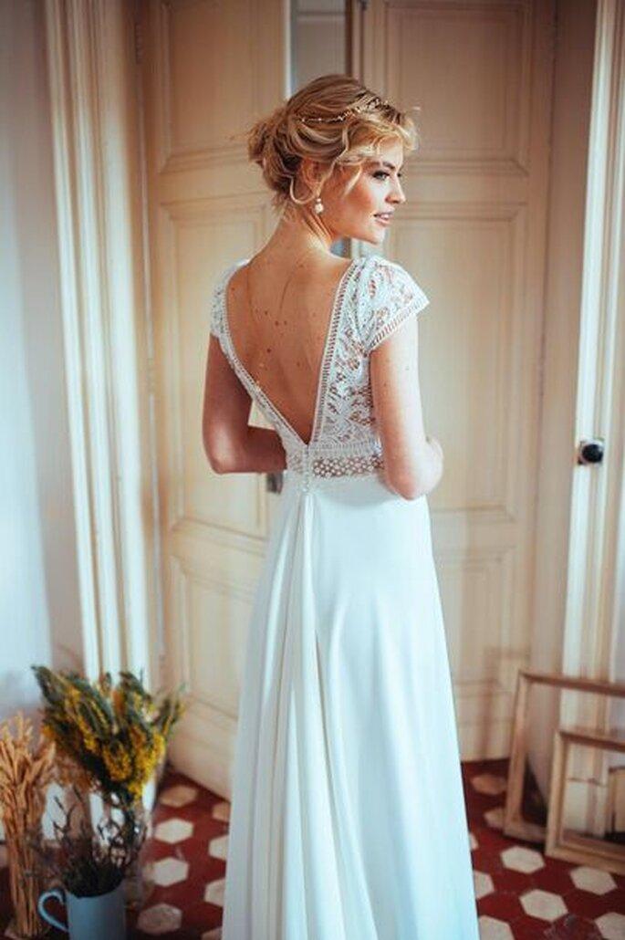 Robe de mariée dos nu en V