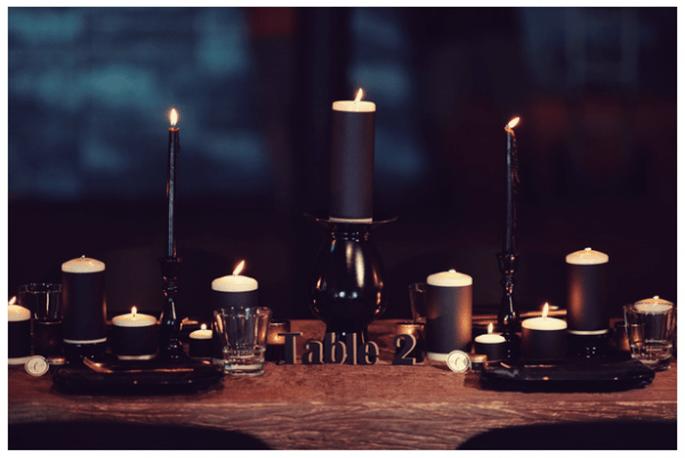 Una boda con detalles en color negro - Foto Jason Mize Photography