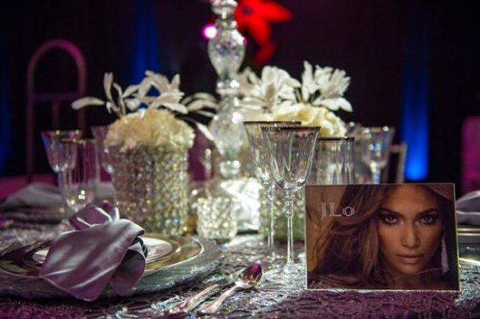 Mesa de boda decorada al estilo de Jennifer Lopez - Foto: Floramor Studios Facebook