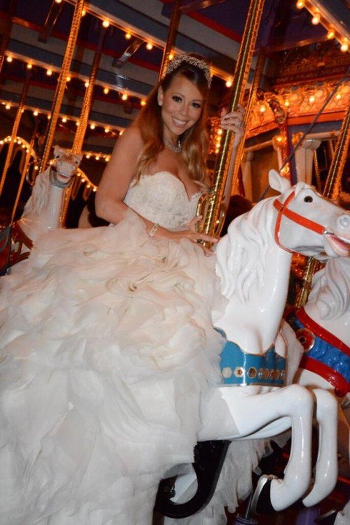 Mariah Carey renovó sus votos como princesa en Disneyland - Foto Mariah Carey Facebook