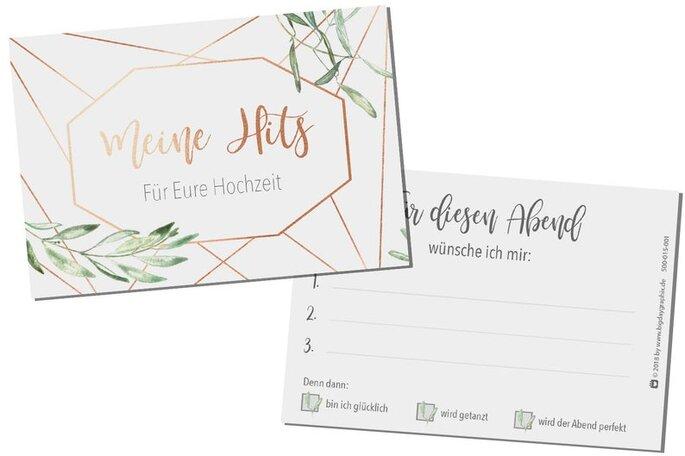 Wunschkarten Hochzeitsgäste