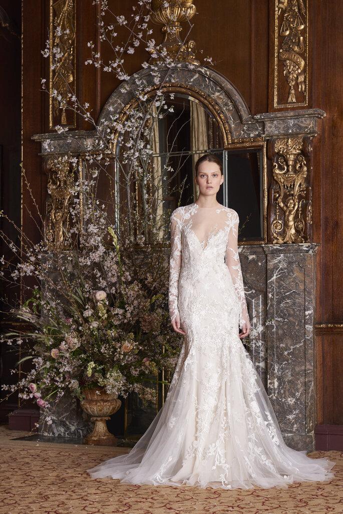 Vestido novia corte sirena con encaje