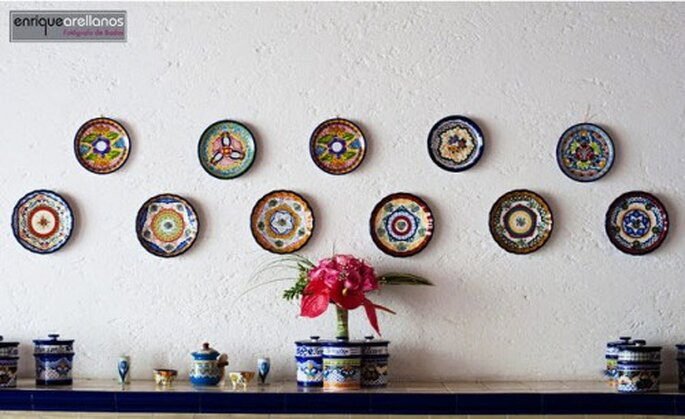 Platos de talavera, artesanía mexicana de calidad