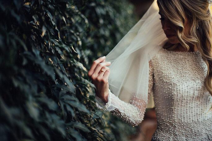 véu curto de noiva