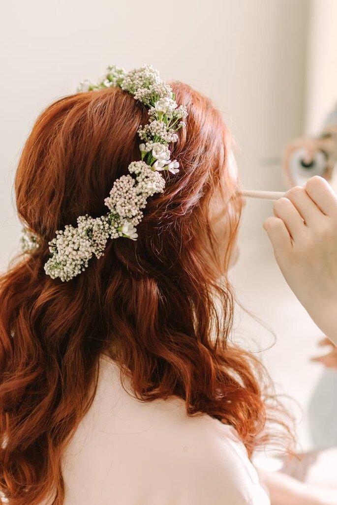 Couronne de fleurs mariage bohème