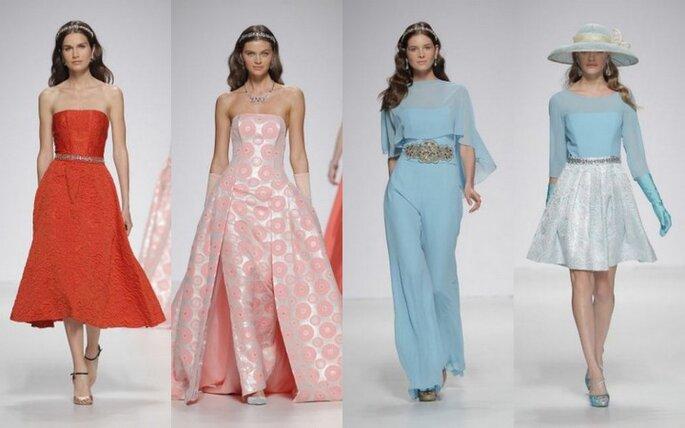 Colección de vestidos de fiesta de Ana Torres 2015: algo nuevo entre la tierra y el cielo