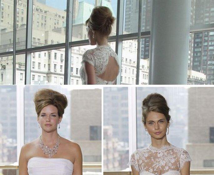 Peinados de novia inspirados en años 60. Fotos: Rivini Spring 2013.