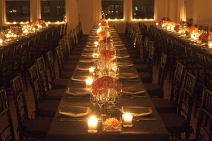 Casar no Inverno - as velas como elemento decorativo