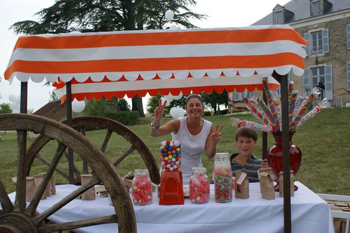 Le fameux stand bonbons !