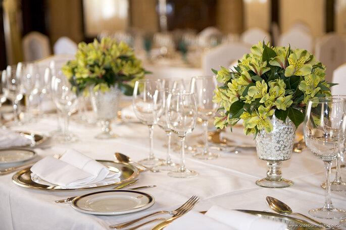 Table dressée pour un mariage à l'Hôtel Alfonso XIII