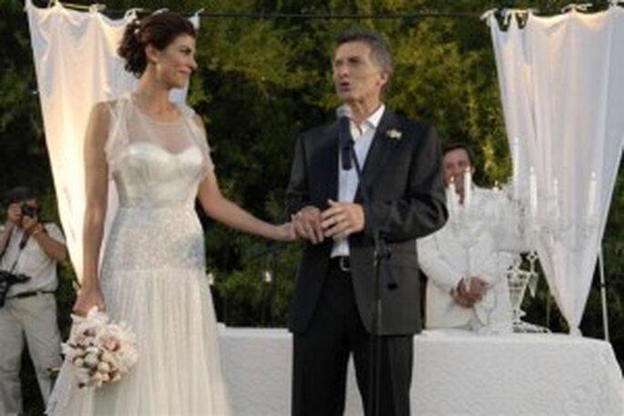 Vestido de novia de Juliana Awada fiesta de casamiento