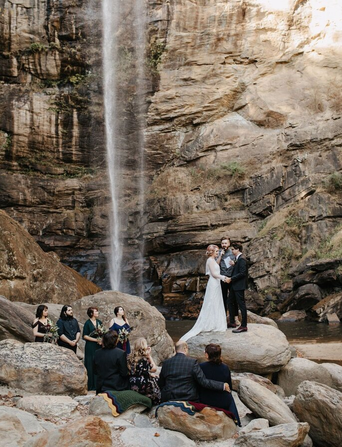 Freie Trauung in der Natur Wasserfall