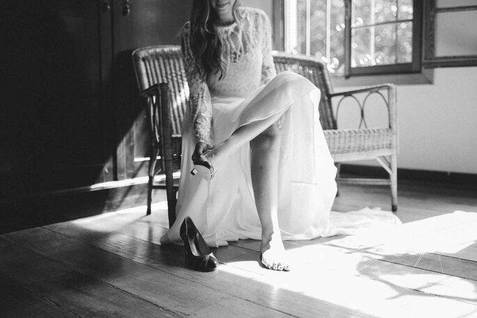 Ensaio da noiva preto e branco