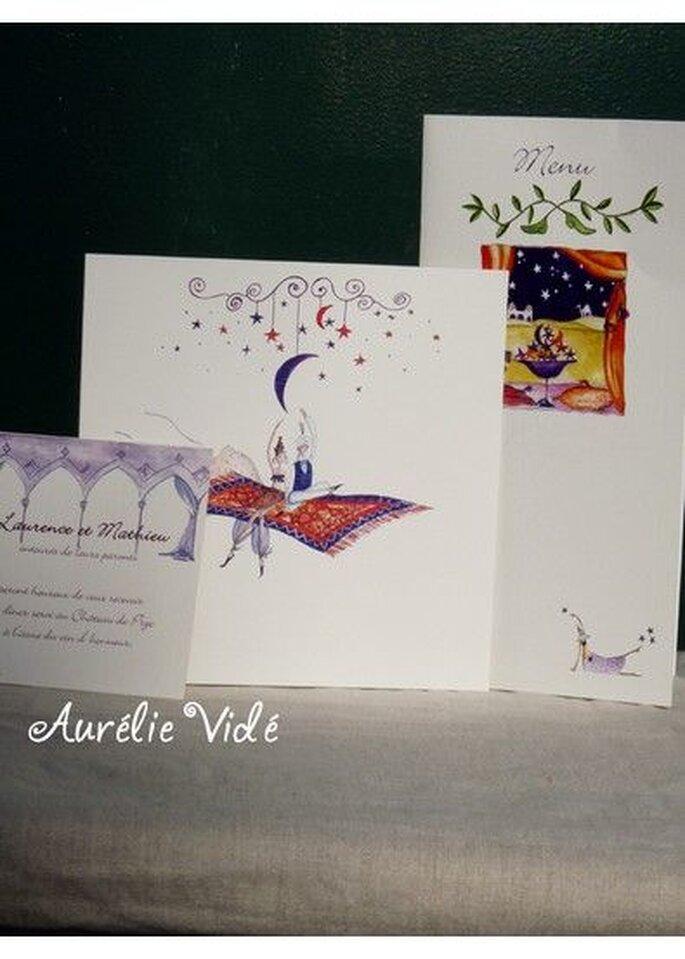 L'univers enchanteur d'Aurélie Vidé donnera à vos faire-part une touche originale