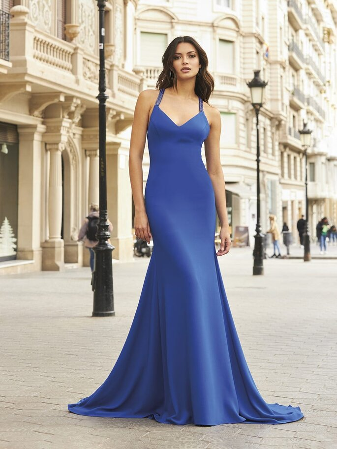 Vestidos de fiesta azules