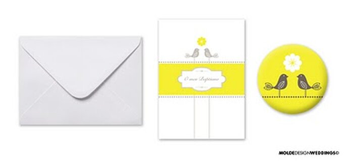 Postais para Baptismo - Moldes Design Weddings