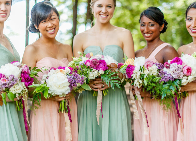 decoración de bodas en color menta - Justin & Mary