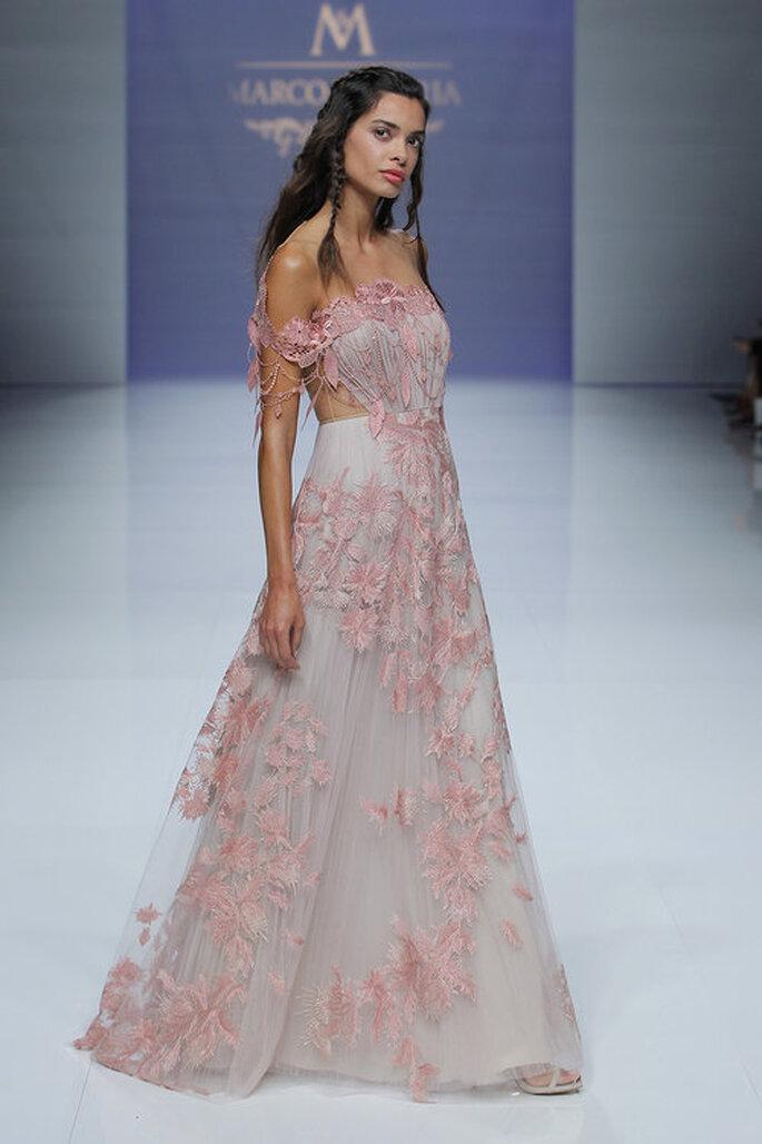 robe de mariée nude dentelle