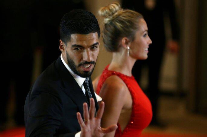 Luis Suárez e sua mulher