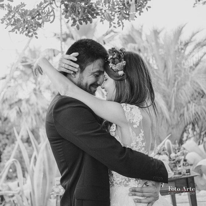 foto pareja blanco y negro