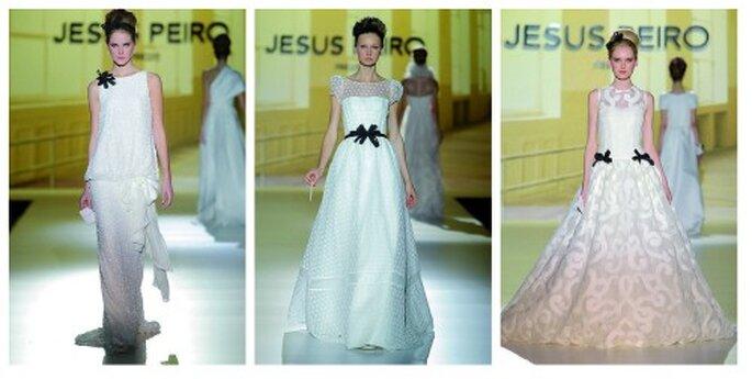 Vestidos de novia con toques negros de Jesus Peiró, Fotos: Ugo Camera