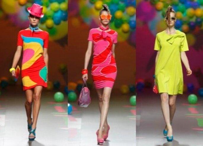 Todos los colores para vestidos. Fotos del sitio Agatha Ruiz de la Prada.