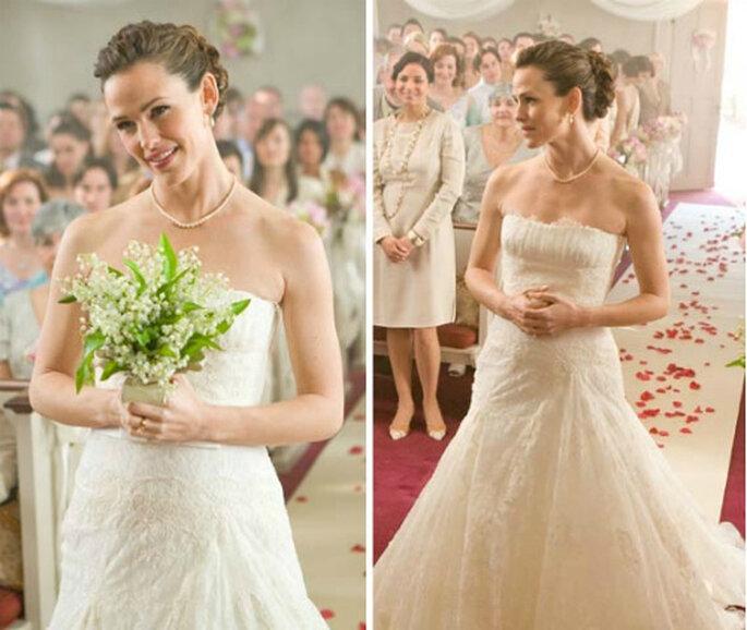 Jennifer Garner y su vestido de Manuel Mota en 'Los fantasmas de mis ex novias'
