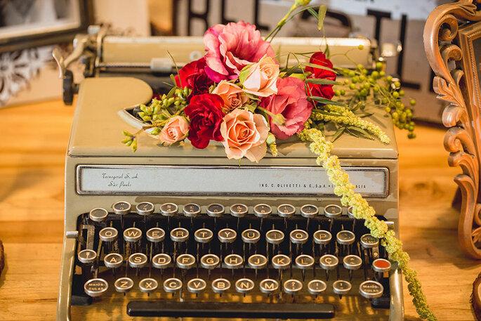 máquina da escrever vintage