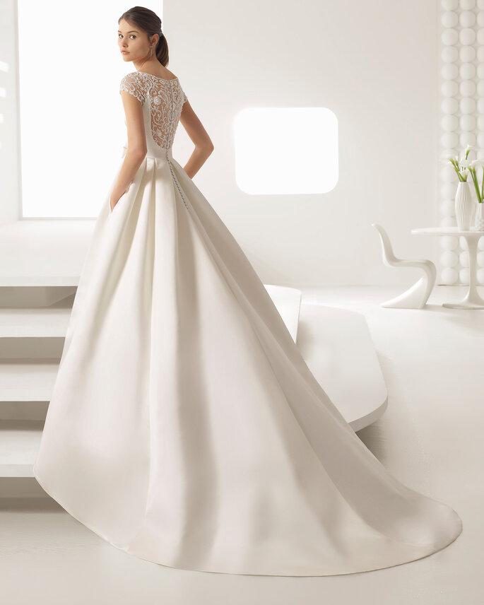 Vestido de noiva em cetim duchese