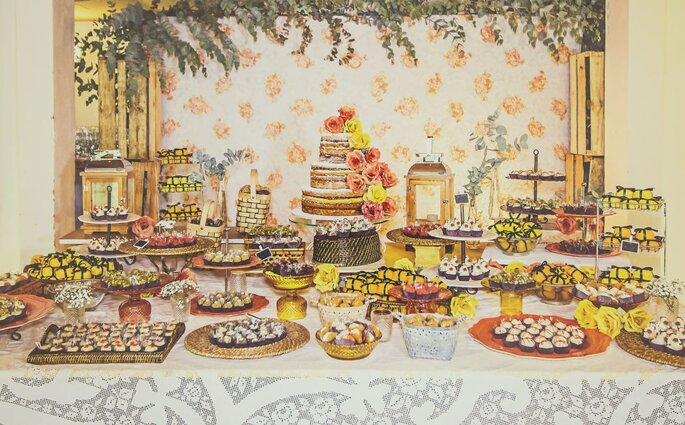 Buffet com comidas típicas é um diferencial