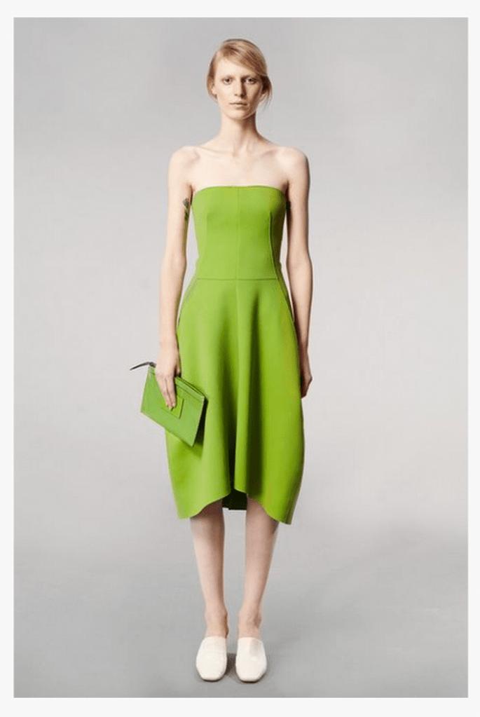 Vestido de fiesta 2014 en color verde limón - Foto Reed Krakoff