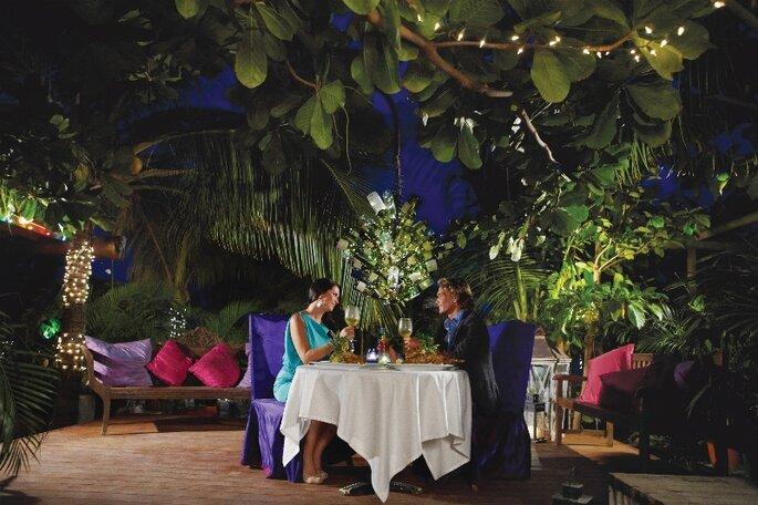 Disfruta de la gastronomía de la isla en una cena romántica. Foto: www.es.aruba.com