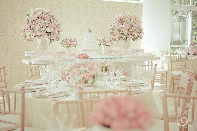 Tischdekoration für Ihre Hochzeit in Pastelltönen - Foto ...
