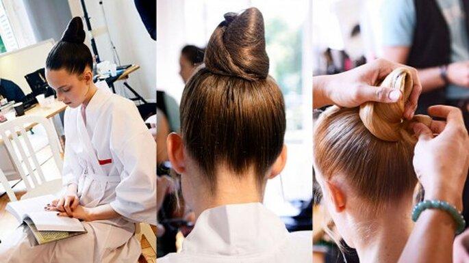 Peinados desfile Valentino. Foto. Semana de la moda en París, Valentino Haute Couture