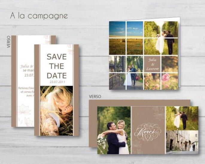 Personnalisez vos cartes de remerciement avec des photos de votre mariage - Carteland