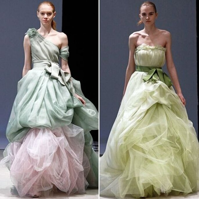 Colored wedding dress from Vera Wang Spring 2012