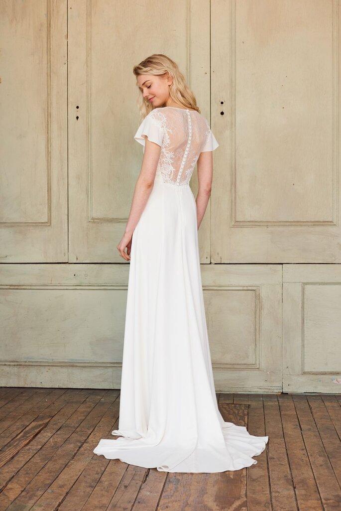 Vestido de noiva de crepe
