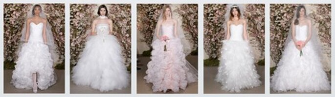 Rüsschen-Brautkleider von Óscar de la Renta 2012