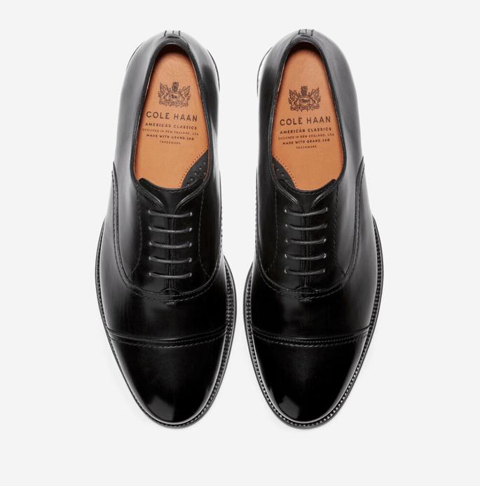 Zapatos para novio color negro estilo Oxford de cintas