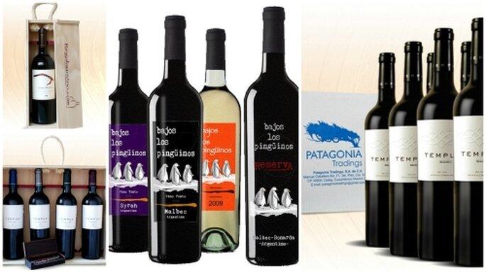 Botellas de vino para bodas. Foto de Patagonia Tradings