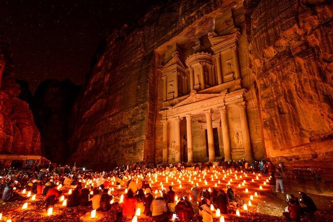 A Petra en Jordanie