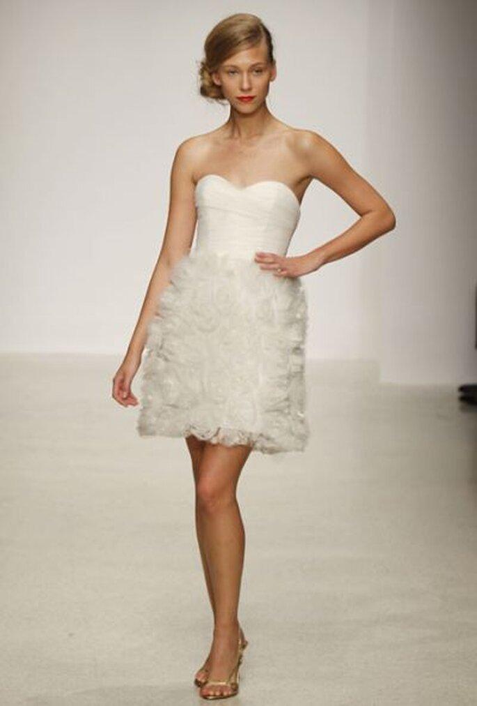 kurzes Brautkleid in Weiß - AMSALE RUNWAY SHOW