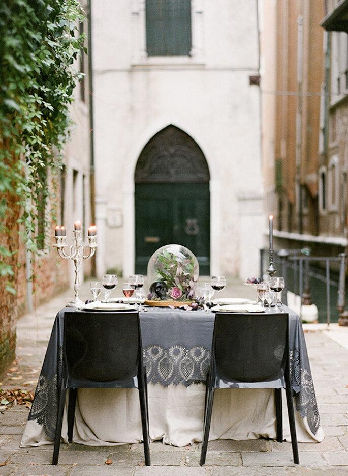 Un montaje perfecto en tonos intensos para tu boda - Foto Heather Waraksa