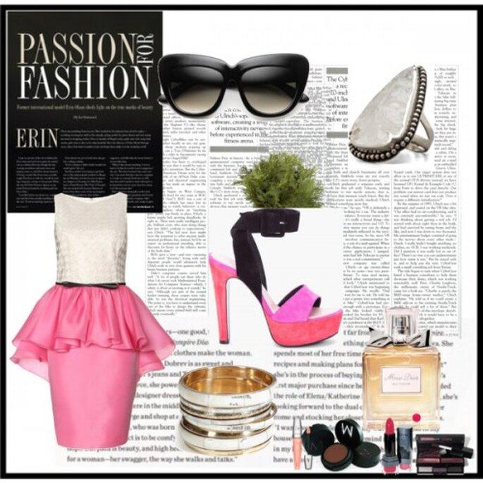 Vestido: Jason Wu, Zapatos: Bárbara Bui, Lentes: Kiara Cat eyes, Perfume: Miss Dior, Anillo: Pamela love