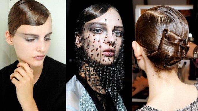 Peinados desfile Giorgio Armani Privé Foto. Semana de la moda en París, Giorgio Armani Privé Haute Couture 2012-2013