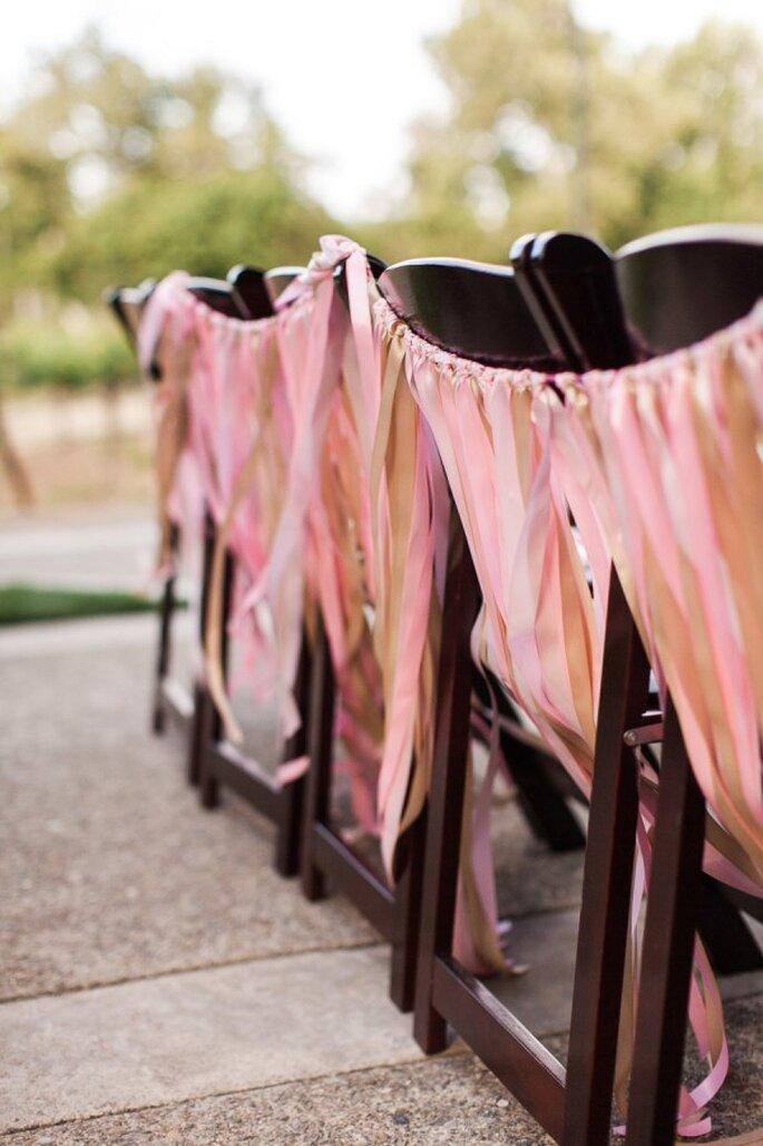 Los mejores acentos de color rosa para decorar tu boda - Foto Danielle Poff Photography