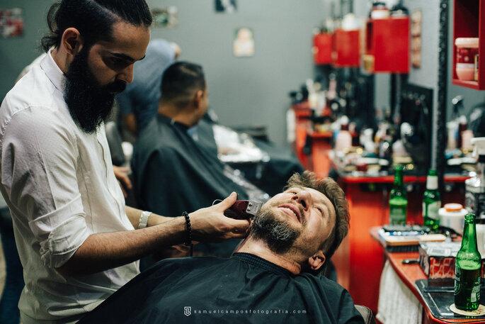 Barbearia dia do noivo