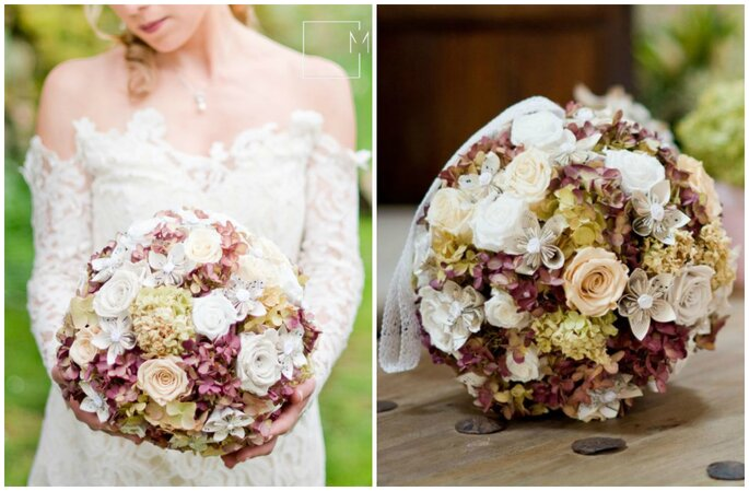 Bouquet de mariée vintage, L'atelier la féerie des fleurs