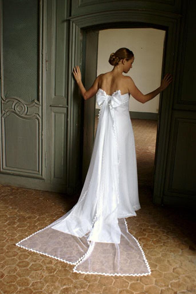 Robe de mariée Géraldine Lemonnier-Leblanc - Hortense, noeud amovible formant une traîne