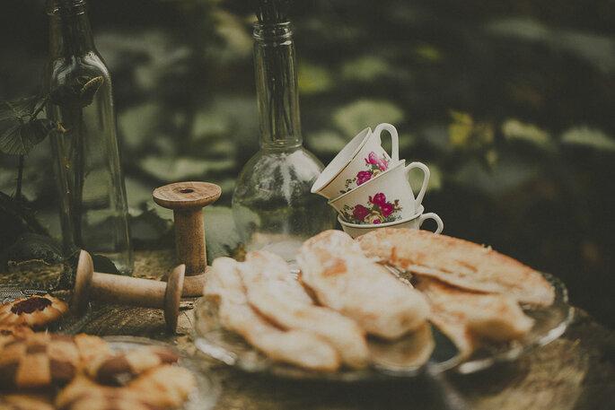 Mesa de café para casamentos